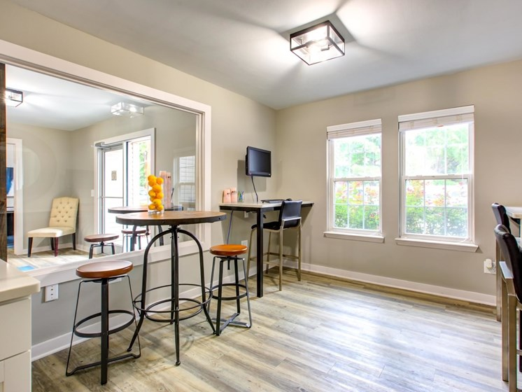 Renovated Dining Area at Quad Apartments, North Carolina, 28403