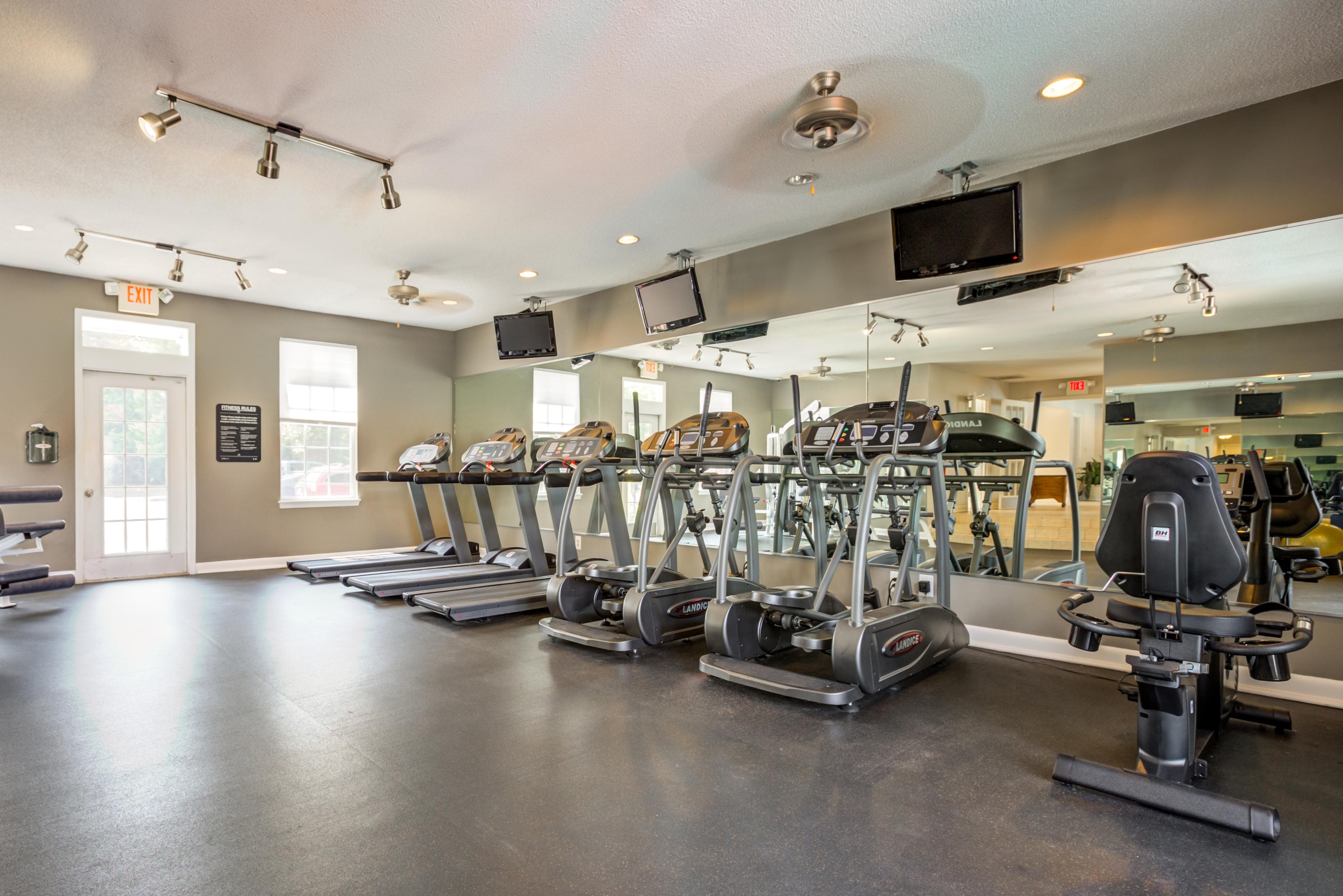 Updated Fitness Center at Cypress Pointe Apartments, Wilmington, NC