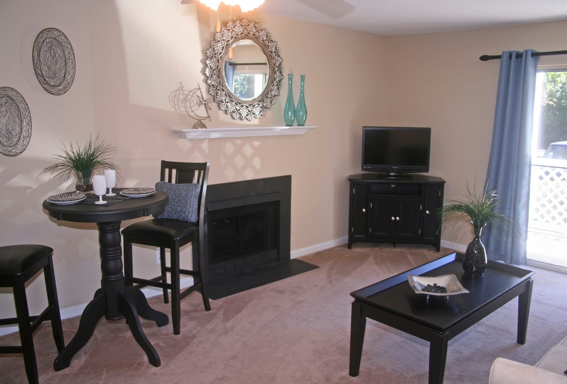 Spacious Living Room at Cypress Pointe, Wilmington, NC,