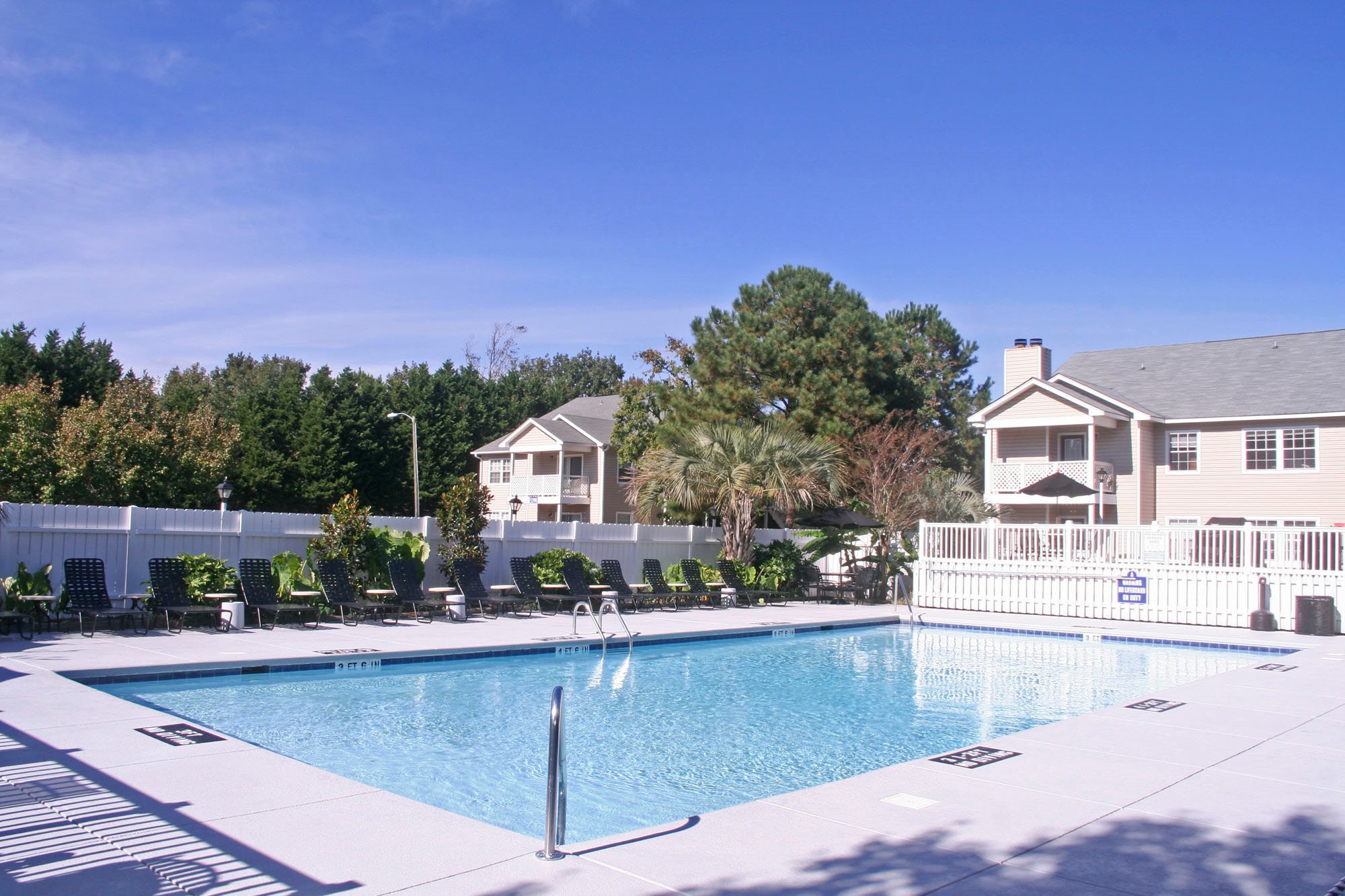 Swimming Pool with Raised Sun Decks at Cypress Pointe