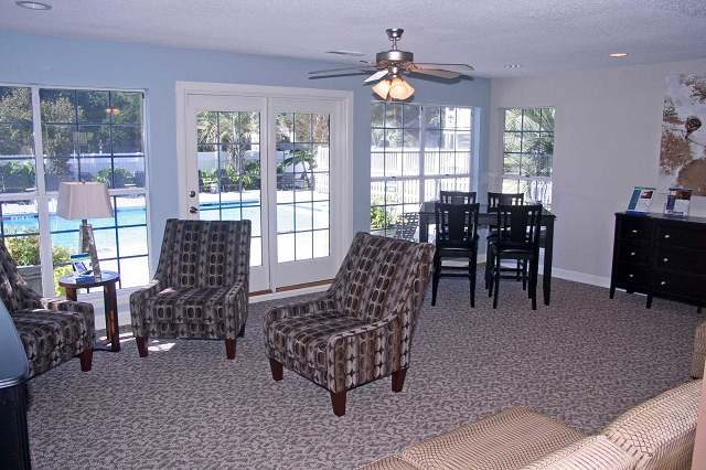 Resident clubhouse at Cypress Pointe, 28403