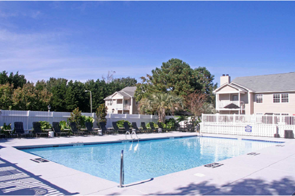 Swimming Pool with Lounge Chairs at Cypress Pointe, Wilmington, NC,28403