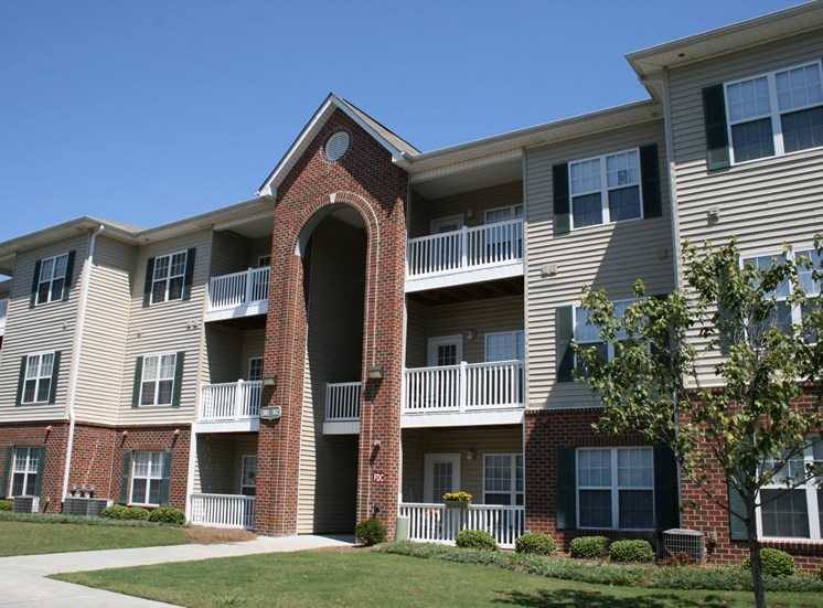 Private patio/balcony at Woodland Crossing, 28562
