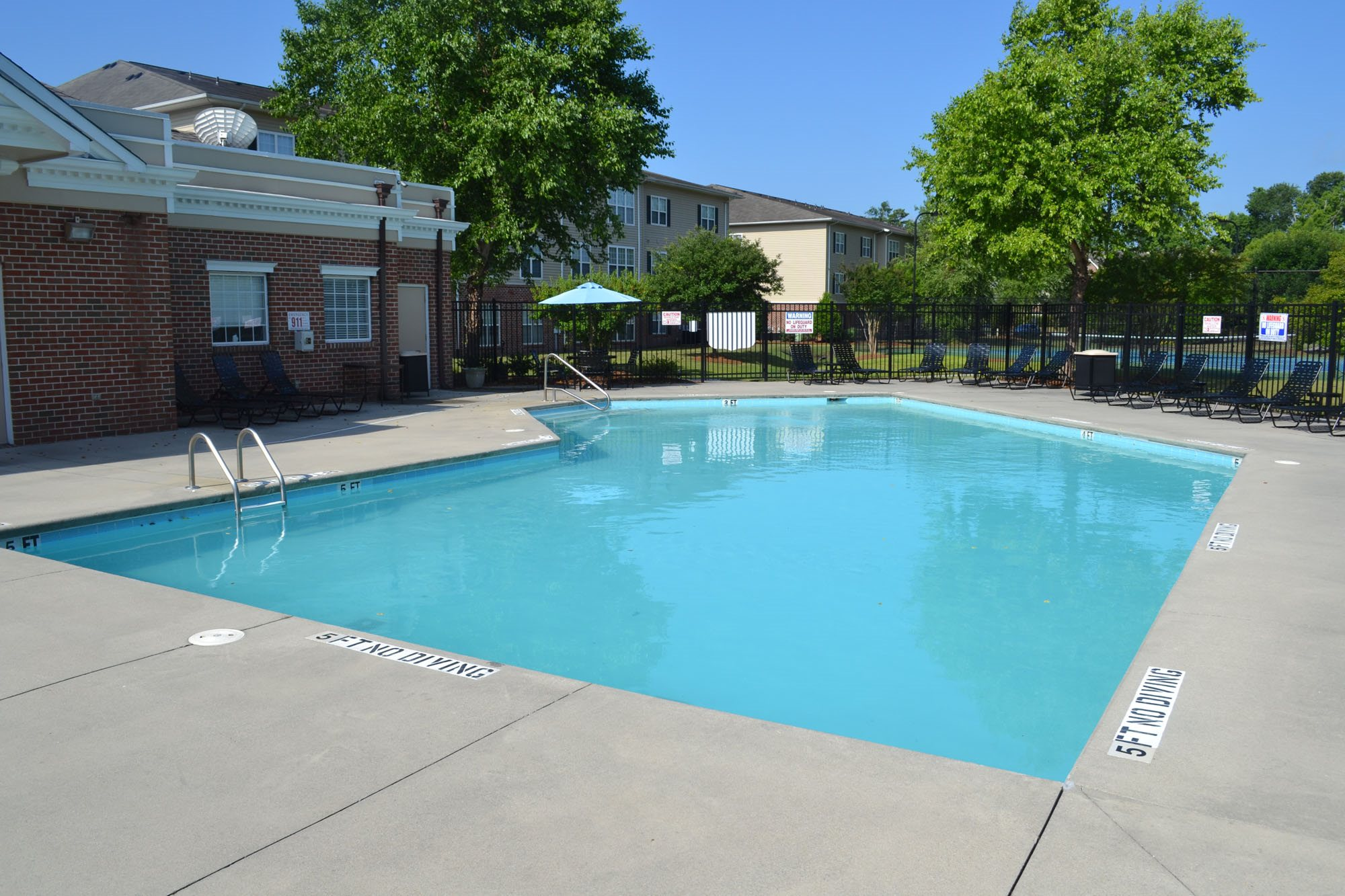 Pool Side Relaxing Area at Woodland Crossing, 28562