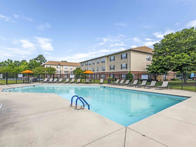 Blue Cool Swimming Pool at Woodland Crossing Apartments, New Bern, 28562
