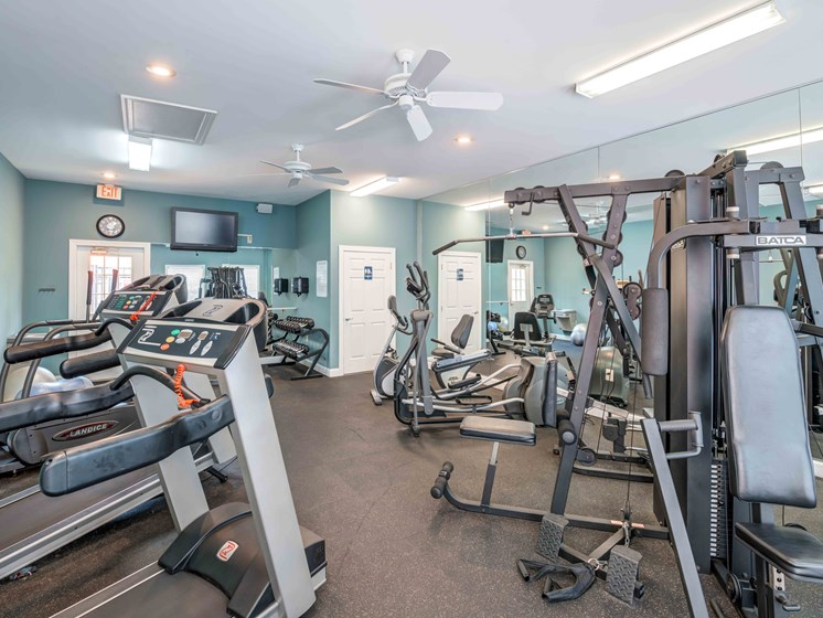 State-of-the-Art Fitness Center at Woodland Crossing Apartments, New Bern