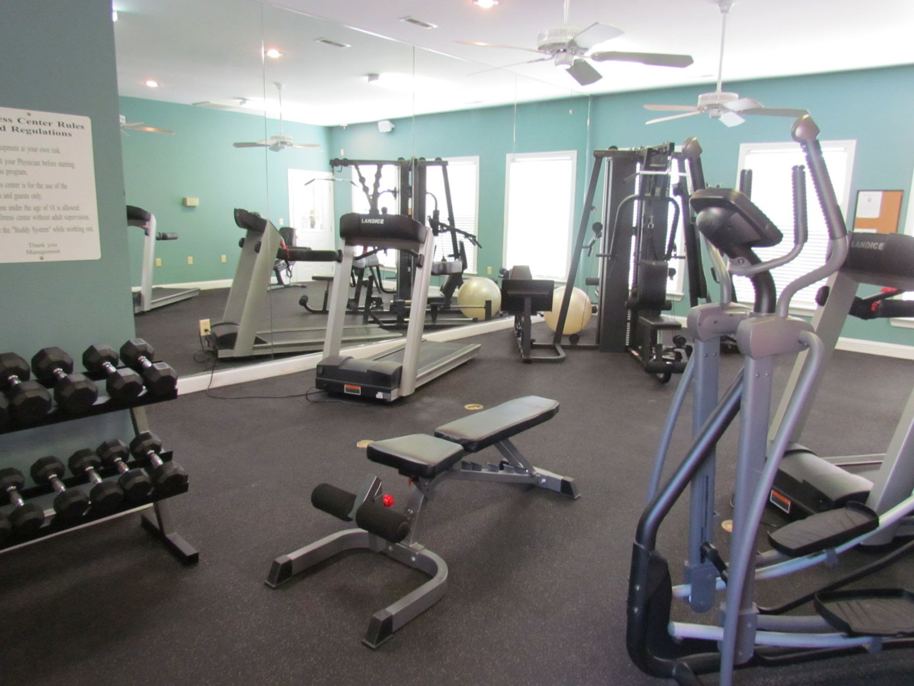 at Woodland Crossing, New Bern, NC,28562 has 24-Hour Fitness Center