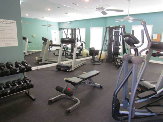 Fitness Center with updated equipment at Woodland Crossing, New Bern, NC,28562