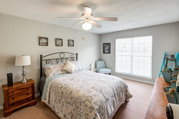 Lighted Ceiling Fan at Woodland Crossing Apartments, New Bern, 28562