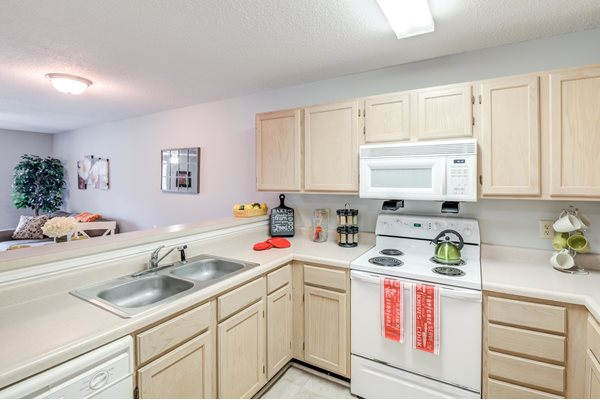 Double Stainless Steel Sink at Woodland Crossing Apartments, New Bern, NC