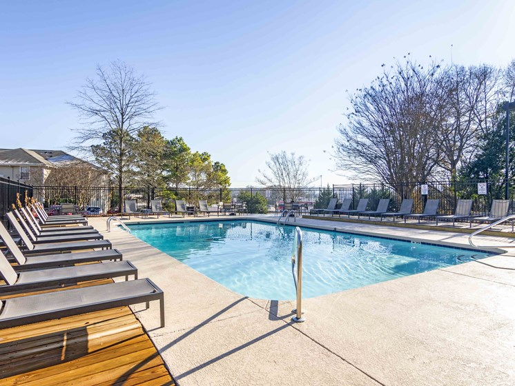 Picturesque Pool And Cabana Setting at Northtowne Village Apartments, Tennessee, 37343