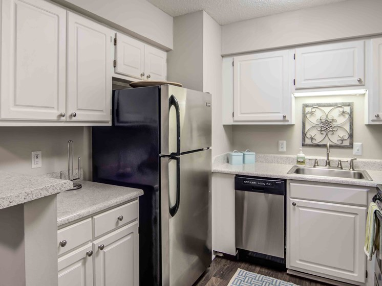 Updated Kitchen With Stainless Steel Appliances at Northtowne Village Apartments, Hixson, Tennessee