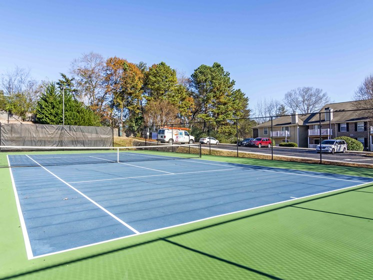 Lighted Tennis Court at Northtowne Village Apartments, Hixson, 37343