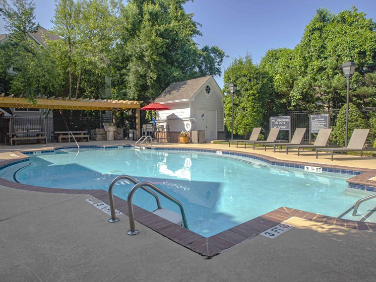 Poolside Sundeck, at Wyndchase at Bellevue Apartments, Nashville, TN