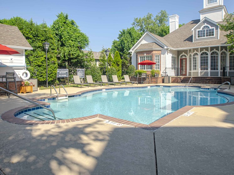Poolside Sundeck and Grilling Area, at Wyndchase at Bellevue Apartments, Nashville, 37221