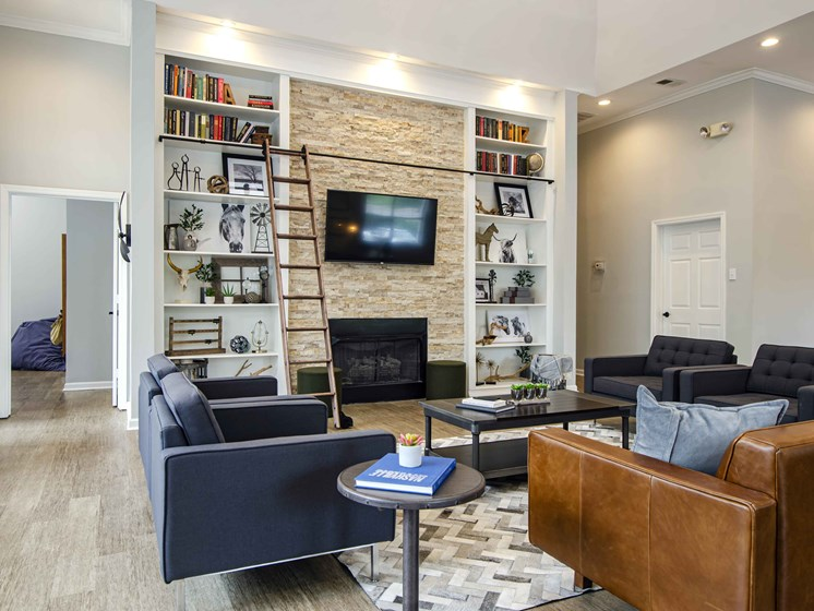 Luxurious Clubhouse With Television, at Wyndchase at Bellevue Apartments, Nashville, 37221