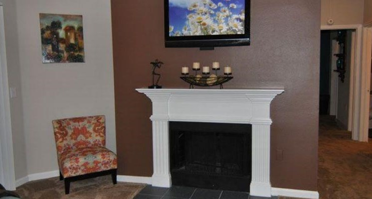 Living Room Fire Place at Wyndchase Bellevue, Nashville, TN,37221