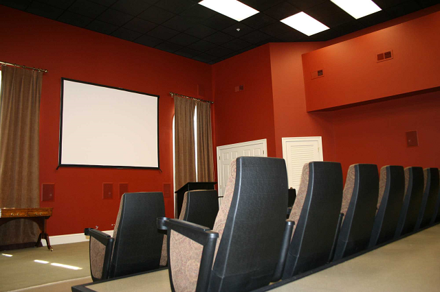 35 seat cinema room, Knoxoville, TN, Forest Ridge