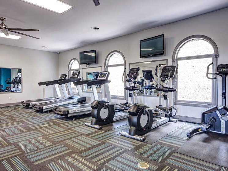 Fitness Center With Modern Equipment at Forest Ridge Apartments, Knoxville, TN, 37931