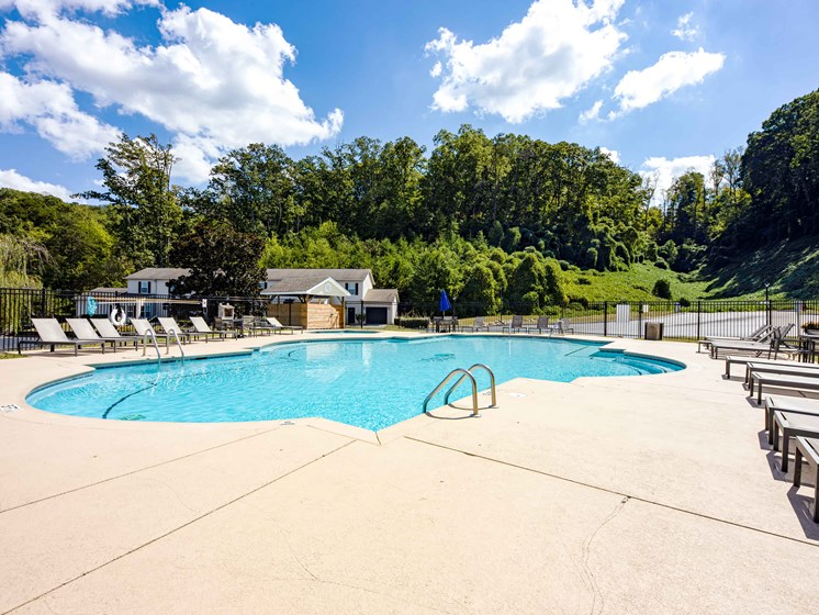 Glimmering Pool at Forest Ridge Apartments, Knoxville