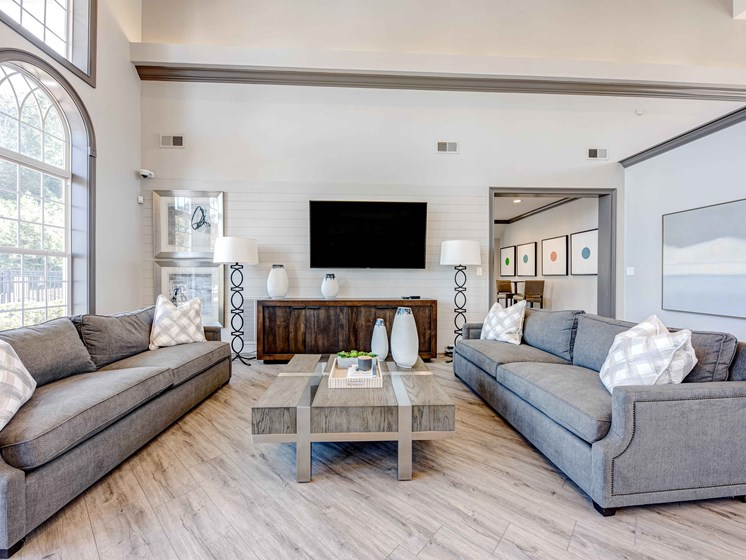 Classic Living Room Design With Television at Forest Ridge Apartments, Tennessee