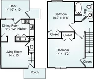 THE HARPY Floorplan at Eagle Pointe