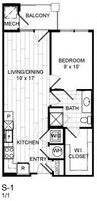 1 Bed, 1 Bath - S1