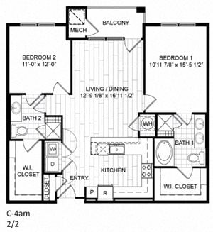 2 Bed, 2 Bath - C4am
