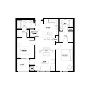 2 Bedroom Floor Plan A
