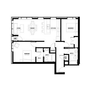 2 Bedroom Floor Plan B