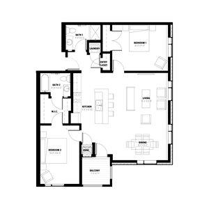 2 Bedroom Floor Plan C