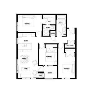 3 Bedroom Floor Plan B