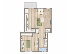 One Bedroom D