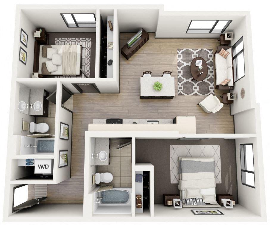 2x2 Plan A Floor Plan 8