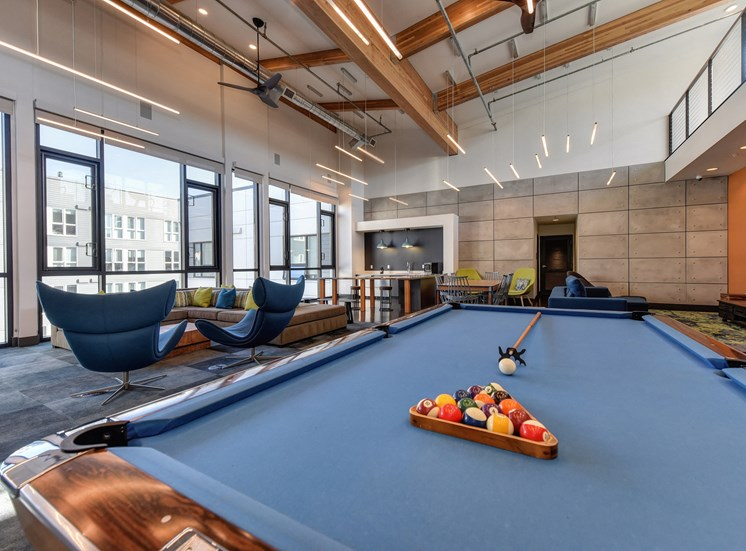 Luxury Apartment Community Clubhouse Pool Table Detail