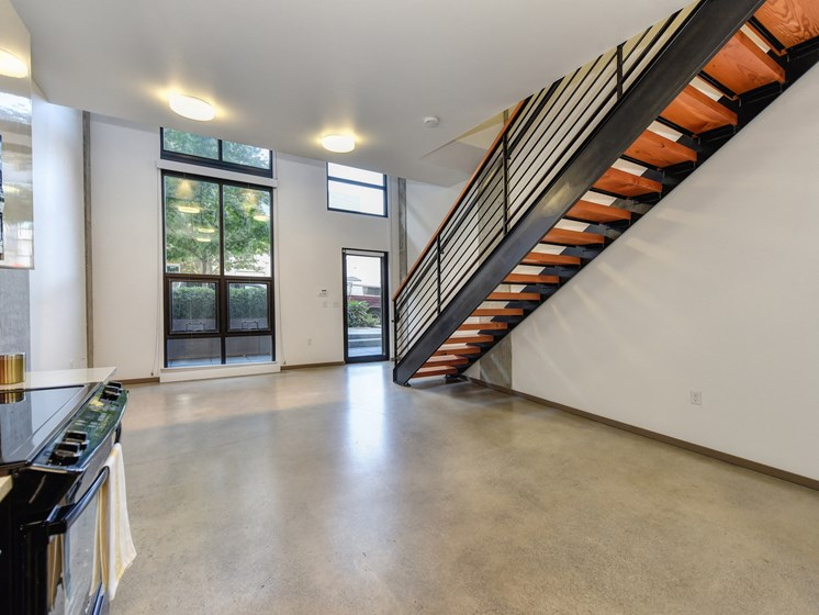 Luxury Apartment Community Staircase in Townhome
