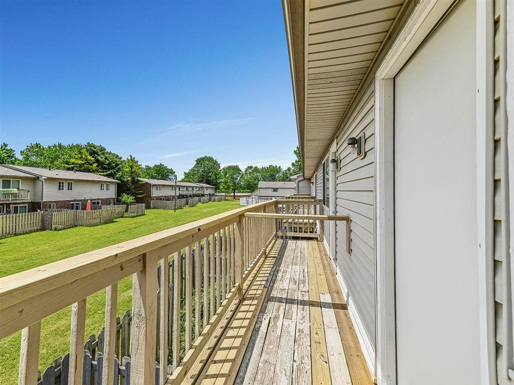 Balcony With Garden View at Westpark Townhomes, Indiana