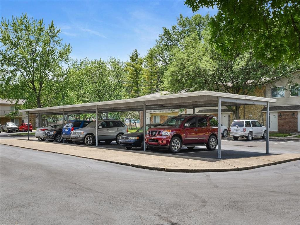Covered Carports at Westpark Townhomes, Indianapolis, IN, 46214