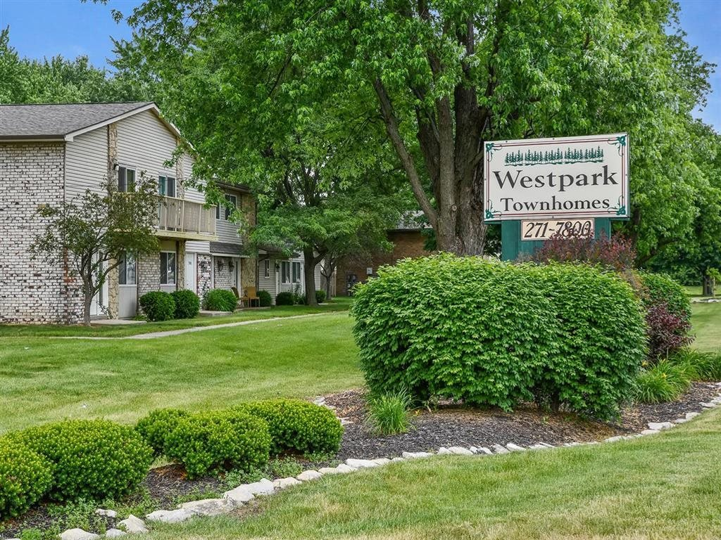 Entrance Sigange at Westpark Townhomes, Indianapolis, IN, 46214