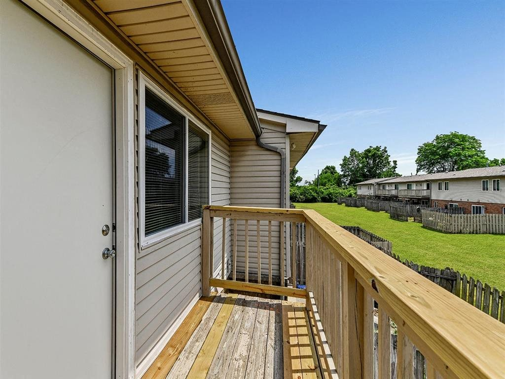 Large Apartment Balcony at Westpark Townhomes, Indianapolis, Indiana