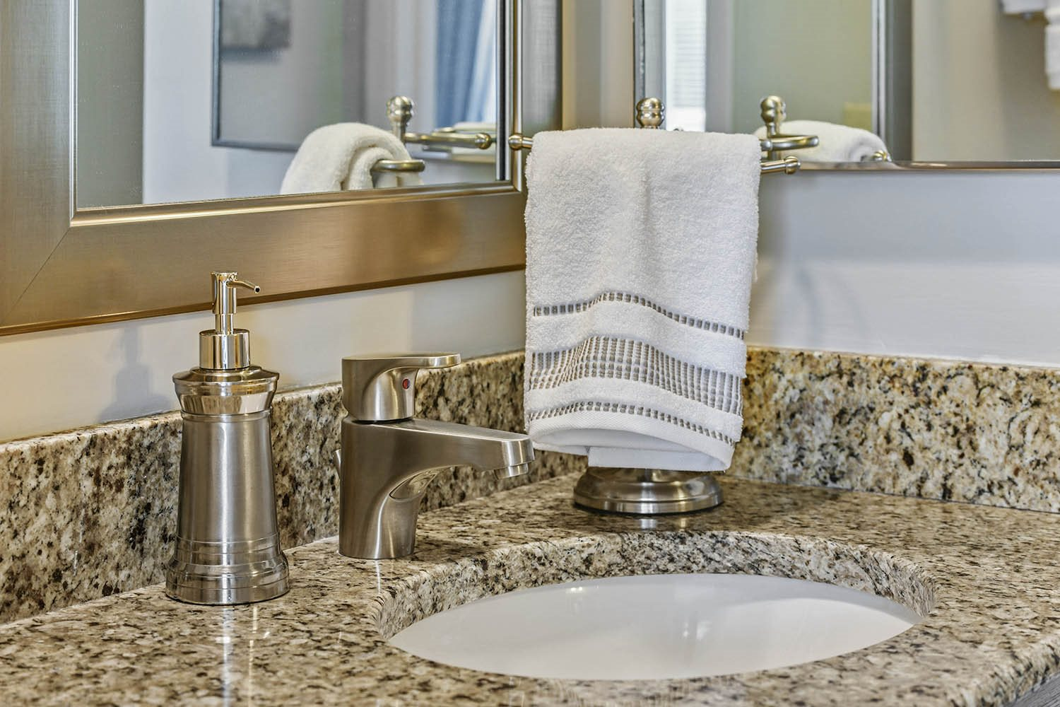 Designer Granite Countertops at Westpark Townhomes, Indianapolis, 46214