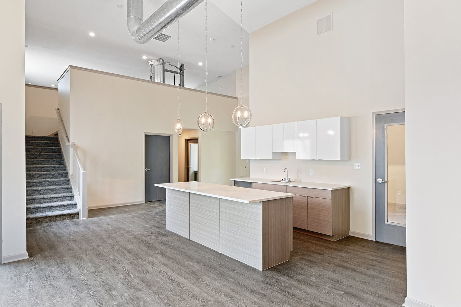 Designer Clubhouse with Kitchen at Westpark Townhomes, Indianapolis, Indiana