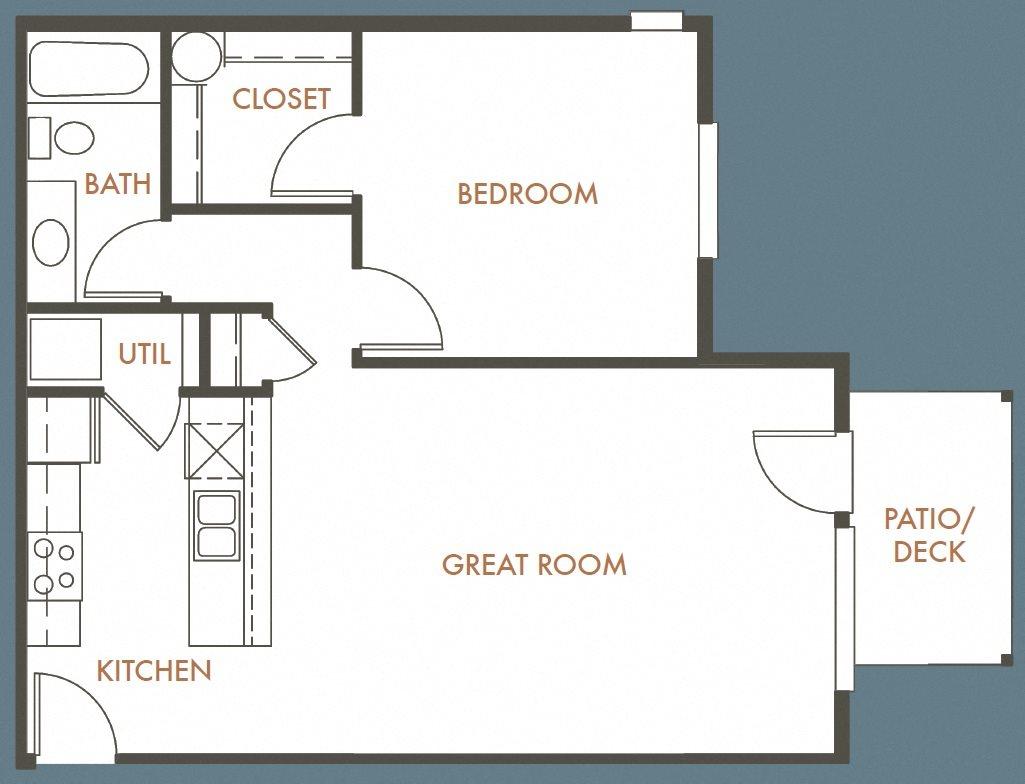 1B 1B Plan A Floor Plan 1