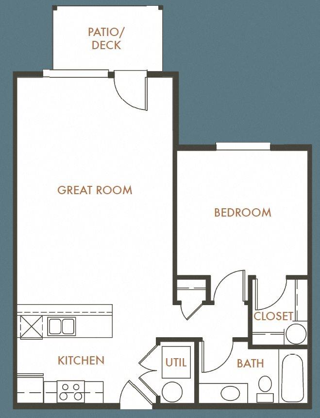1B 1B Plan B Floor Plan 2