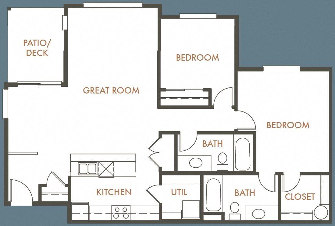 2B 2B Plan B 3st Floor Plan 8