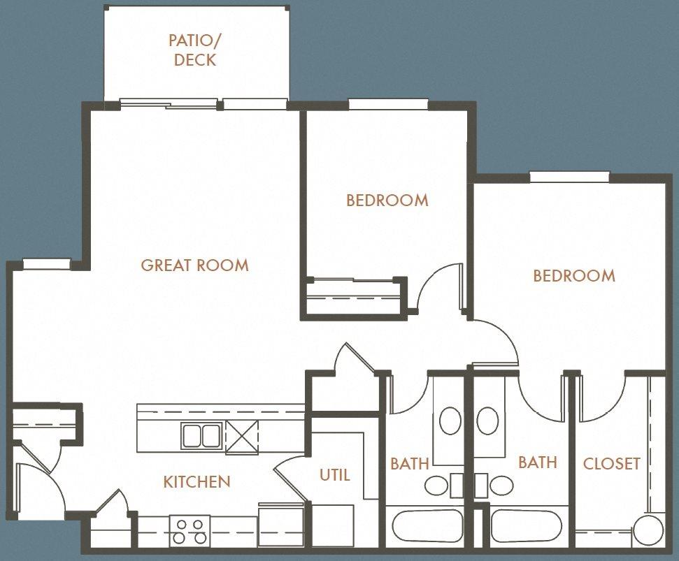 2B 2B Plan D Floor Plan 10