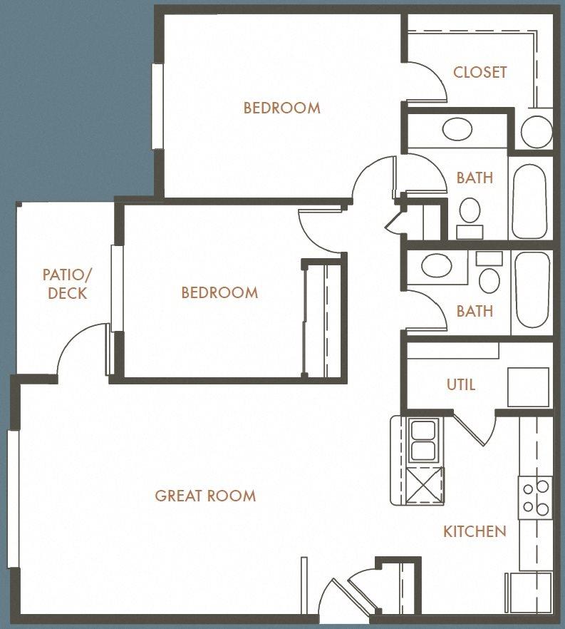 2B 2B Plan E Floor Plan 11