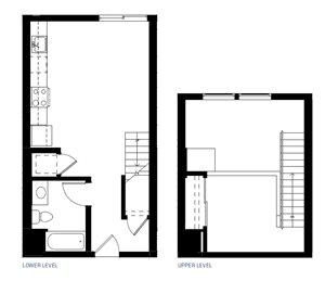 One Bedroom Floorplan at Abaca, 94107