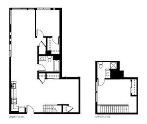 Two Bedroom Floorplan at Abaca, California