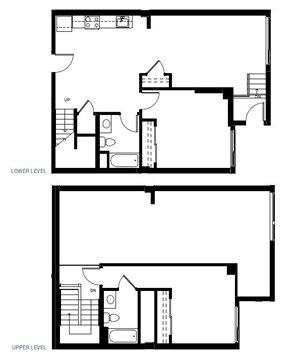 Two Bedroom Floorplan at Abaca, San Francisco, CA 94107